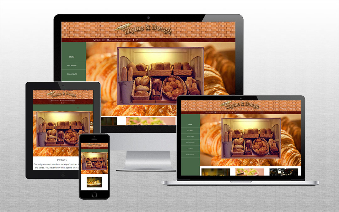 Thyme & Dough on Responsive Devices